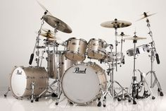 Pearl Reference Pure Series Drum Set in Platinum Mist Finishes