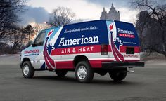 This HVAC truck wrap design conveys the brand's core values—trust, reliability and professionalism—as it rolls through neighborhoods in Central Florida. - NJ Advertising Agency, NJ Ad Agency, NJ Web Design, NJ Logo Design, HVAC Truck Wrap Design, HVAC Vehicle Wrap Design | Graphic D-Signs, Inc. #truckwraps #truckwrap #vehiclewrap #vehiclewraps #advertising #design #graphicdesign #besttruckwraps #bestvehiclewraps