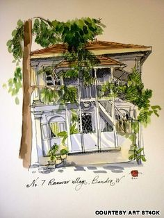 Watercolors of old Bandra bungalows for sale | CNN Travel