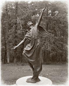 Free at Last Angel Sculpture, Garden Sculpture, Free At Last, Freedom Art, Guardian Angels, Angels And Demons, Angel Art, Cemetery, The Fosters