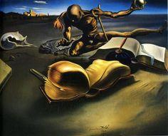 Book Transforming Itself into a Nude Woman by Salvador Dali (1904-1989, Spain)