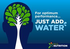 For optimum performance... Just add water.