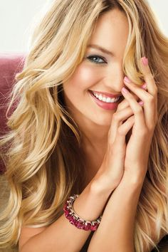 Candice Swanepoel - this makes me want to do my hair super light again.. beautiful.