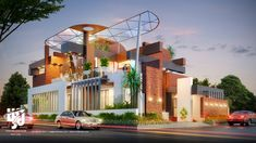 Visualization is expert in architectural rendering, walkthrough, architecural visualization, animation, interior design and realistic rendering Modern Architecture Design, Facade Design, Exterior Design, House Architecture, Architecture Interiors, Modern House Plans, Modern House Design, Morden House, Modern Bungalow Exterior
