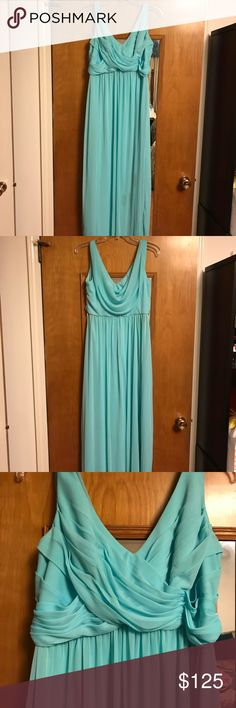 David's Bridal Formal Dress David's Bridal Formal Dress Aqua Dress Size 10 David's Bridal Dresses Prom