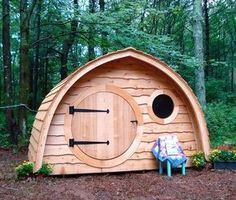 Hobbit Hole playhouses, chicken coops, sheds, cottages, saunas, more! - Wooden Wonders' Hobbit Holes Bring the Magic of Middle-earth to Your Yard