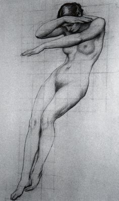 Figure study for Clyties of the Mist Herbert James Draper - Life Drawing, Drawing Sketches, Art Drawings, Figure Drawings, Figure Painting, Painting & Drawing, Figure Drawing Reference, Figure Sketching, Pierre Auguste Renoir