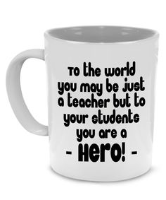 Funny Cute Teacher Appreciation Thank You Gifts Coffee Mug - Printed on Both Sides!