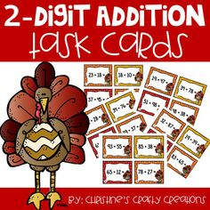 24 fall themed (2 digit addition task cards) that are great for math centers, whole class activities, small group instructions, or independent work.Answer key and student recording sheet included.If Interested, I have a task card bundle at a discounted price:Fall Task Card BundleOrdering 3 Digit Num...