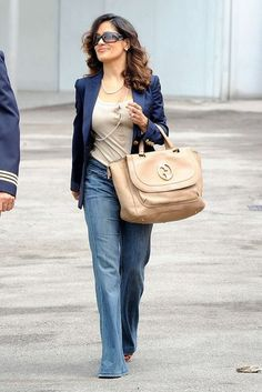 As a girl with curves myself, I'm huge into Salma Hayek's fashion sense!