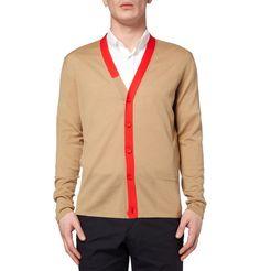 Balenciaga  Contrast-Trim Wool-Blend Cardigan