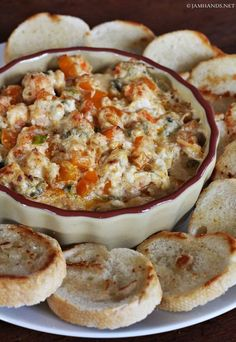 I've had great success with spicy shrimp dips. You can't go wrong with Cajun seasoning, shrimp and cream cheese. This dip is a bit dif...