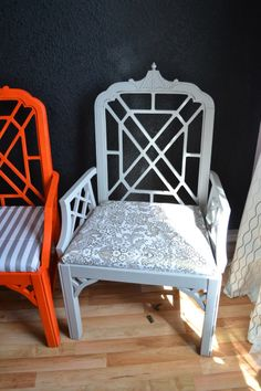 chair redo: DIY oilcloth chair covers