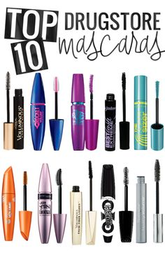 The TOP 10 Best Drugstore Mascaras - awesome list!