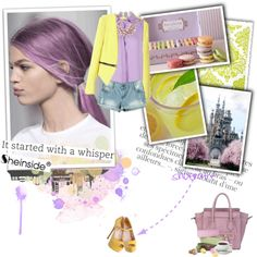 """Sitting on a purple cloud (Vienna)"" by punnky ❤ liked on Polyvore"
