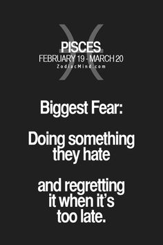 zodiacmind: Your Zodiac signs biggest fear! Pisces Sun Sign, Pisces And Sagittarius, Pisces Traits, Pisces Quotes, Pisces Woman, My Zodiac Sign, Pisces Horoscope, Astrology Meaning, Astrology Signs