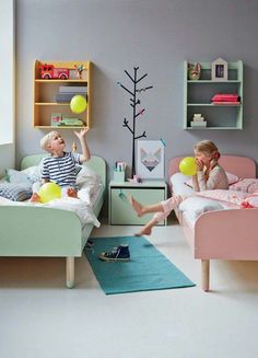 shared kids bedroom // family living