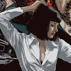Uma Thurman - Pulp Fiction - Art by Mondo