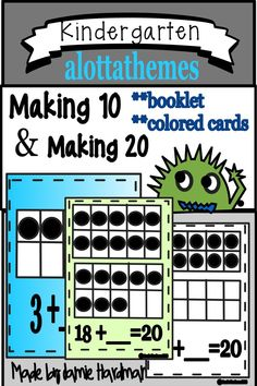 This activity allows student to practice using ten frames. The ten-frame uses the concept of numbers and Students then develop visual images for each number and then A great resource to add to your math unit. A must have for your math centers! Subtraction Kindergarten, Teaching Kindergarten, Student Learning, Common Core Education, Common Core Math, Ten Frame Activities, Alphabet Activities, Math Place Value, Place Values