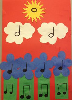 """n growing a garden and see how many ideas will bloom! This project can accompany any song about gardening (such as Music """"How Does Your Garden Grow"""") and can make perfect decorations for your upcoming spring concert or bulletin board! Music Lessons For Kids, Music Lesson Plans, Music For Kids, Preschool Music, Music Activities, Teaching Music, 2nd Grade Music, Music Notes Decorations, Music Worksheets"""