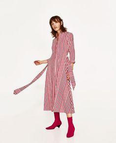 STRIPED SHIRT-STYLE TUNIC-View All-DRESSES-WOMAN | ZARA United States