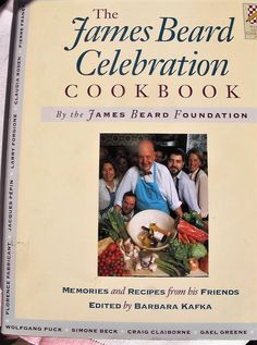 James Beard Celebration Cookbook Chef Memories 1st Edition DJ 1990 Recipes Barbara Kafka Cooking Christmas Gift Celebrity by ChezKathleenAntiques on Etsy