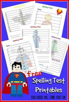 Cool spelling printables