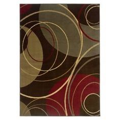 Inject a freeform element into your room with this Infinity Circles Area Rug. It's constructed of woven polypropylene for easy spot cleaning, and has a jute backing that gives this rug added durability. Comes in 2 sizes: 5'x8' and 8'x10'.