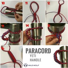 A paracord yeti handle is a very popular craft and actually very easy to make. It will use 2 weaves (the cobra weave and the 4 strand round braid). Here are some handles that we have made. Here is…
