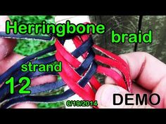 DEMO 15: Herringbone Cover Braid w/ 12 Strands of Leather, Simple and Pretty - YouTube