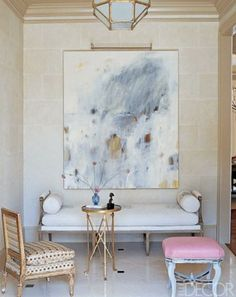 Pink and White Foyer