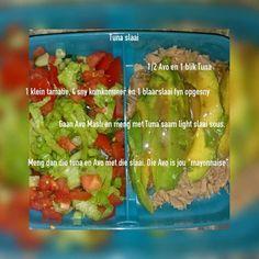 Tuna en groente Diet Recipes, Recipies, Diet Meals, 28 Dae Dieet, Dieet Plan, Atkins Diet, Eating Plans, Food Photo, Asparagus