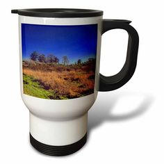 #coffee #mug #drivesafe #commuter #travel #cup #drink #gifts #art Amazon.com: DYLAN SEIBOLD - PHOTOGRAPHY - TREE HORIZON WITH BLUE SKY - 14oz Stainless Steel Travel Mug (tm_244534_1): Kitchen & Dining