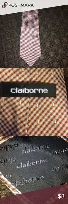 Claiborne neck tie. Nice! Claiborne neck tie. Nice!  The design in this tie is embroidered. Nice! Claiborne Accessories Ties