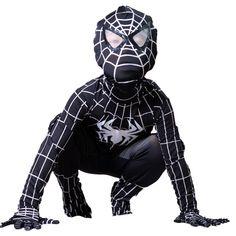 boys Venom black spiderman costume kids Halloween child Hero Bodysuit cosplay | Boys' Fancy Dress | Fancy Dress - Zeppy.io