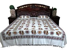 Cotton Bedspread Ethnic Indian Printed India Coverlet for Bedroom Decor Mogul Interior http://www.amazon.com/dp/B00QRKNGTY/ref=cm_sw_r_pi_dp_kHKIub1SW44D8