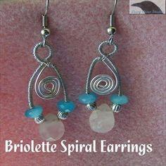 Briolette Spiral Earrings Pattern at Sova-Enterprises.com