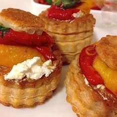 """Goat Cheese with Marinated Roasted Peppers 