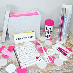 Bando available now at UrbanGirl.  Cute notebooks, pencil bags, coffee mugs, tumblers, and more.  Pink, girly, and fabulous!