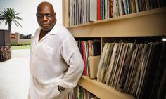 Carl Cox with some of his 150,000+ records