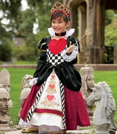 little girls Queen of Hearts costume