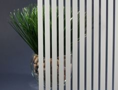 White Vertical Strip Decorative Window Film
