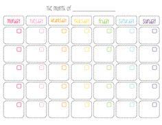 Cute Printable Monthly Calendar