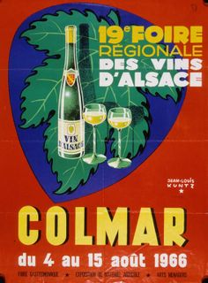 Affiche de la 19e Foire - Foire aux Vins, Colmar, Alsace (www.foire-colmar.com)