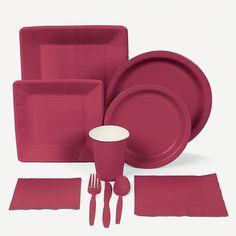Burgundy Tableware - OrientalTrading.com