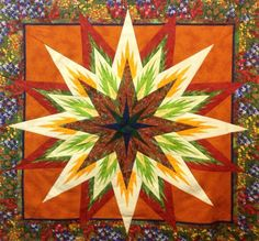 Feathered Star, Quiltworx.com, Made by Inge Harris, Taught by CI Eileen Urbanek