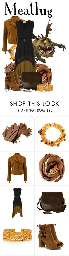 """""""Meatlug - Dreamworks How to Train Your Dragon"""" by rubytyra ❤ liked on Polyvore featuring Bobbi Brown Cosmetics, Arthur Marder Fine Jewelry, Meteo by Yves Salomon, Hermès, A.L.C., Rebecca Minkoff and Paula Mendoza"""