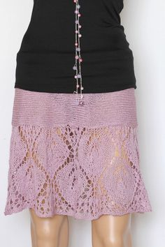Purple Hand Knit Skirt Vintage Inspired Halter Top by ettygeller, $69.00