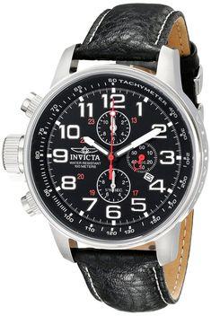 94bb65a7e2d Invicta Reloj Silver Military Watch Man Hombre Crystal Leather Strap Hand  Lefty  Invicta  Military