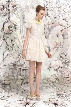 "Red Valentino Spring 2013 Collection:  ""It's always about this girl—like in a children's book, she goes on different adventures."""